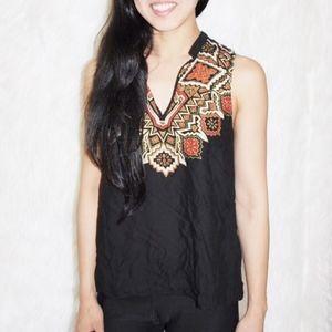 💎 H&M versatile ethnic boho tribal accent blouse